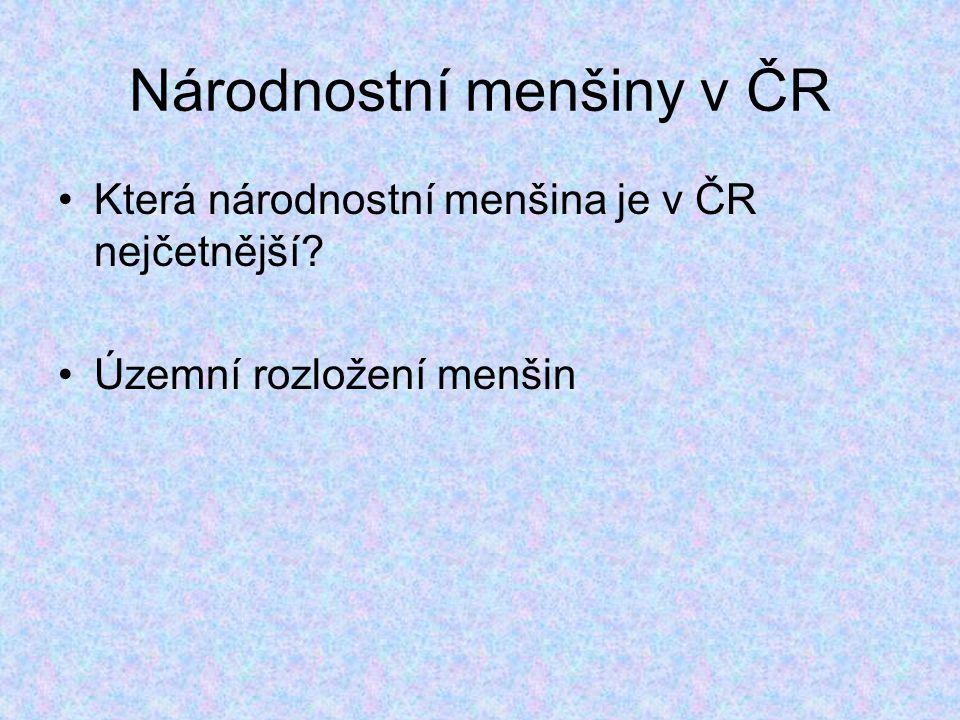 Národnostní menšiny v ČR