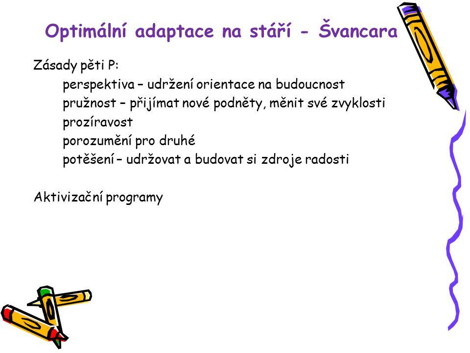 Optimální adaptace na stáří - Švancara