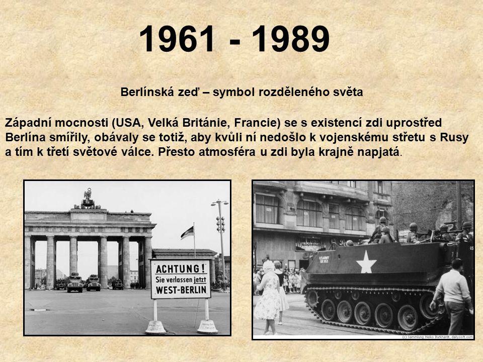 Berlínská zeď – symbol rozděleného světa