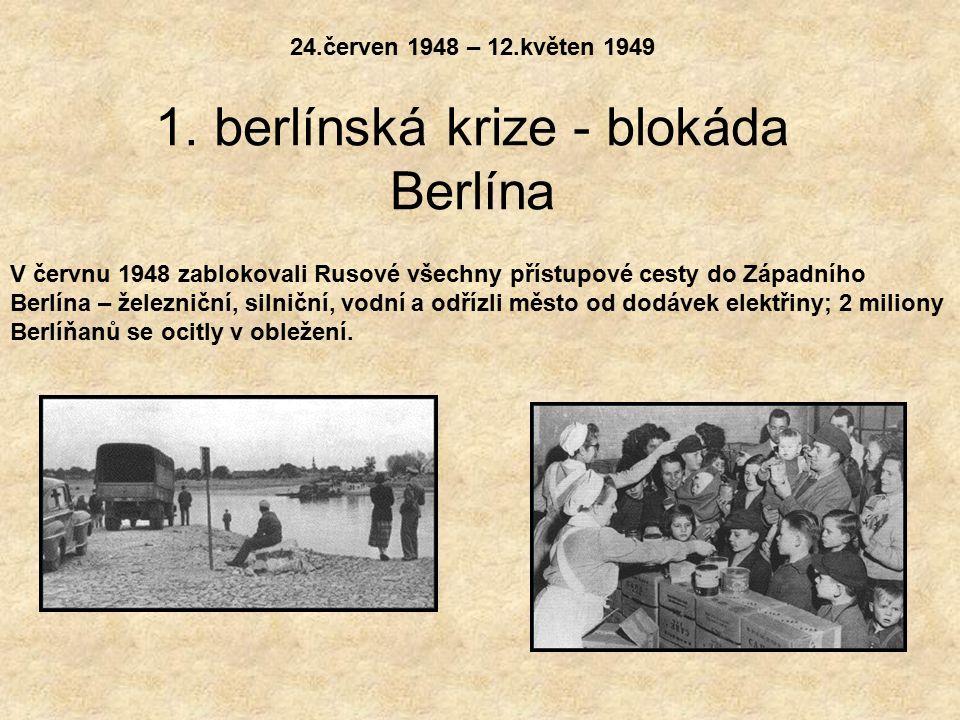 1. berlínská krize - blokáda Berlína