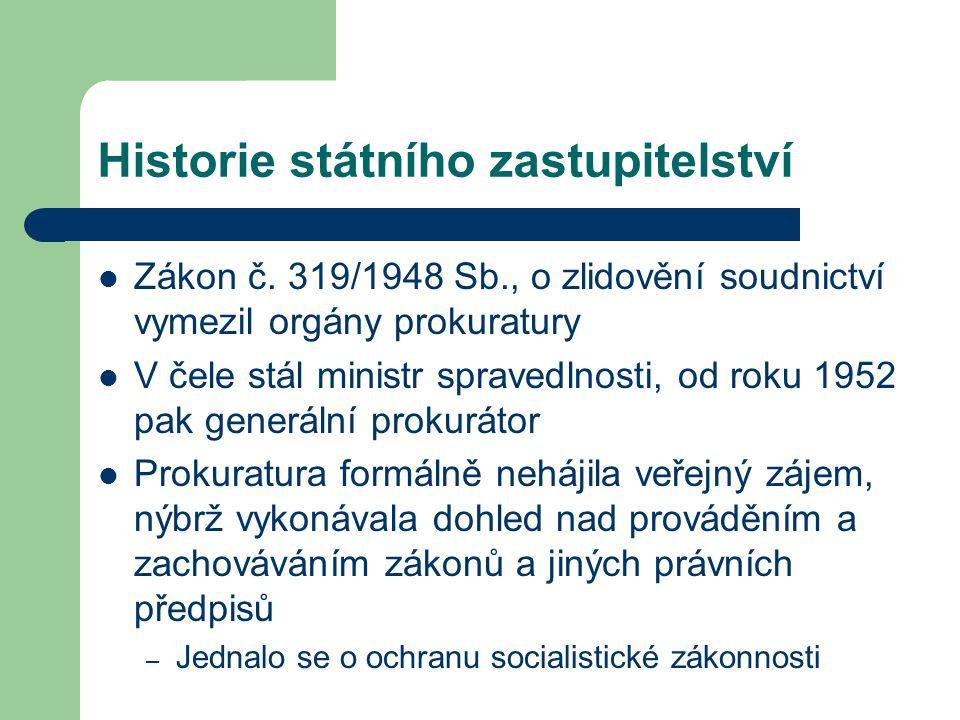 Historie státního zastupitelství