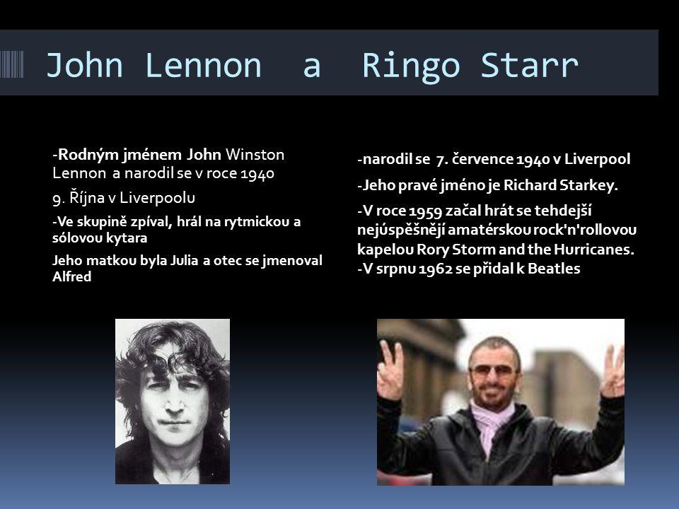 John Lennon a Ringo Starr