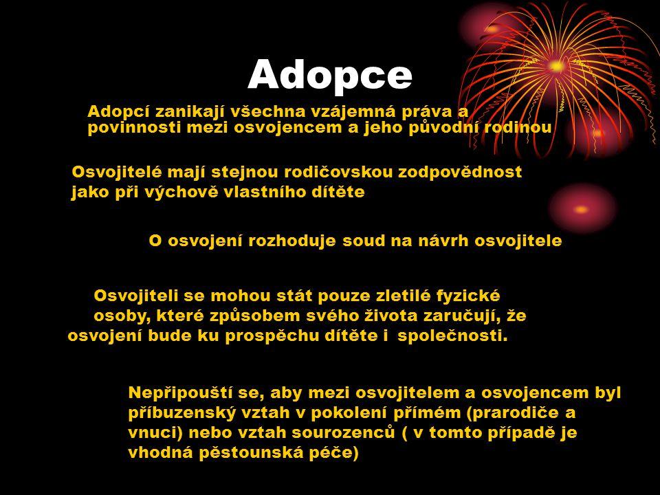 Adopce O osvojení rozhoduje soud na návrh osvojitele