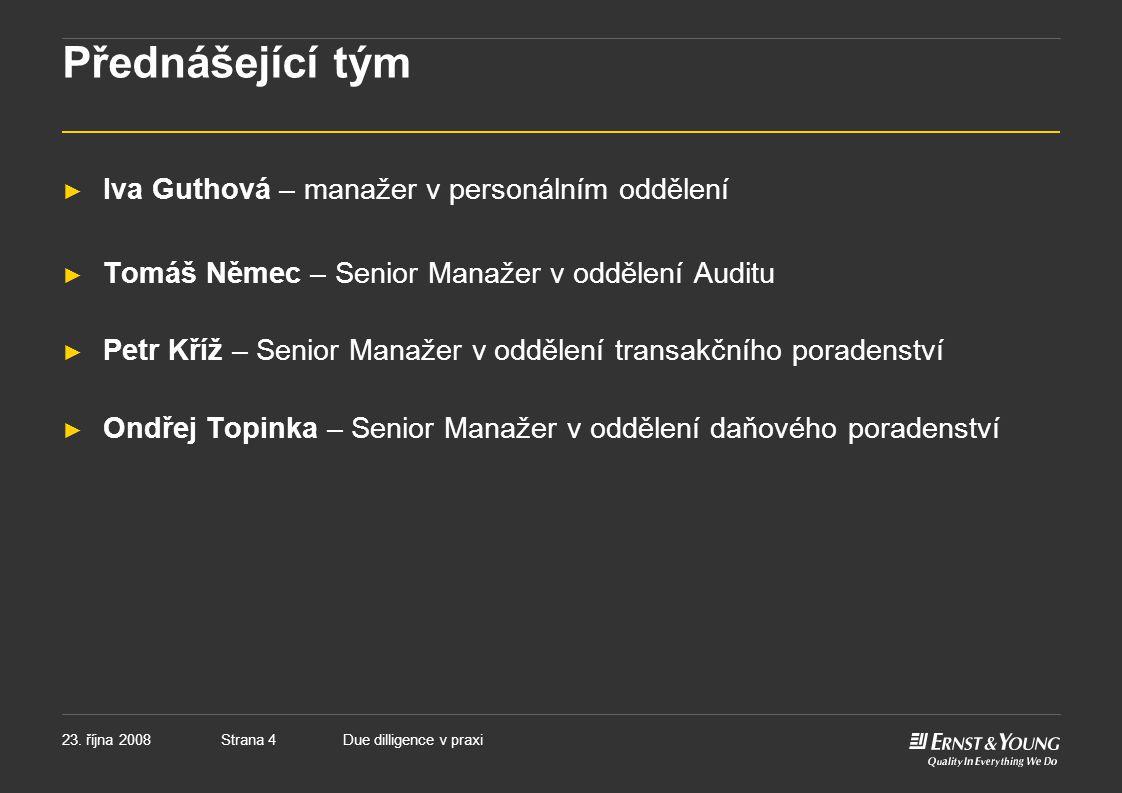 Přednášející tým Iva Guthová – manažer v personálním oddělení