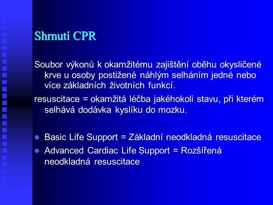 Shrnutí CPR