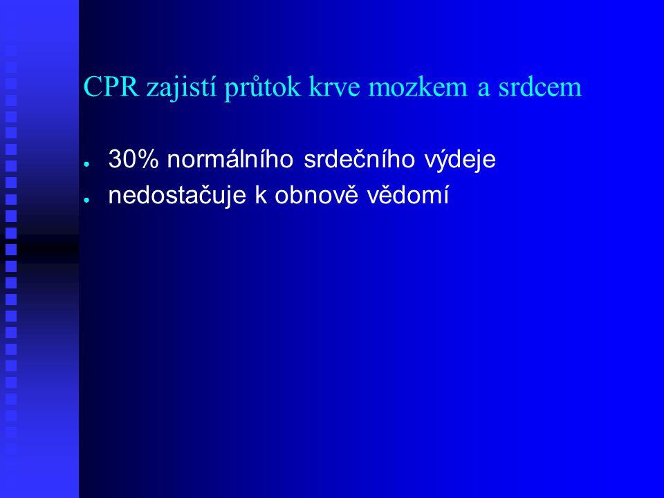 CPR zajistí průtok krve mozkem a srdcem