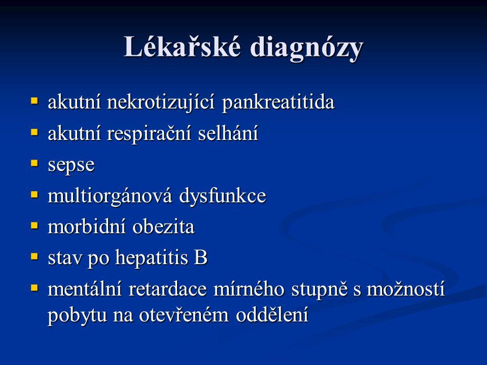Lékařské diagnózy akutní nekrotizující pankreatitida