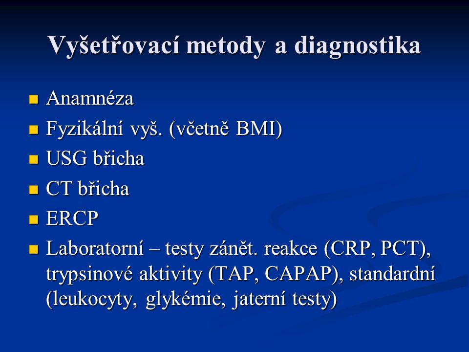 Vyšetřovací metody a diagnostika