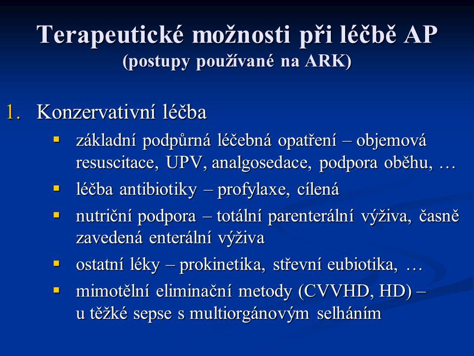Terapeutické možnosti při léčbě AP (postupy používané na ARK)