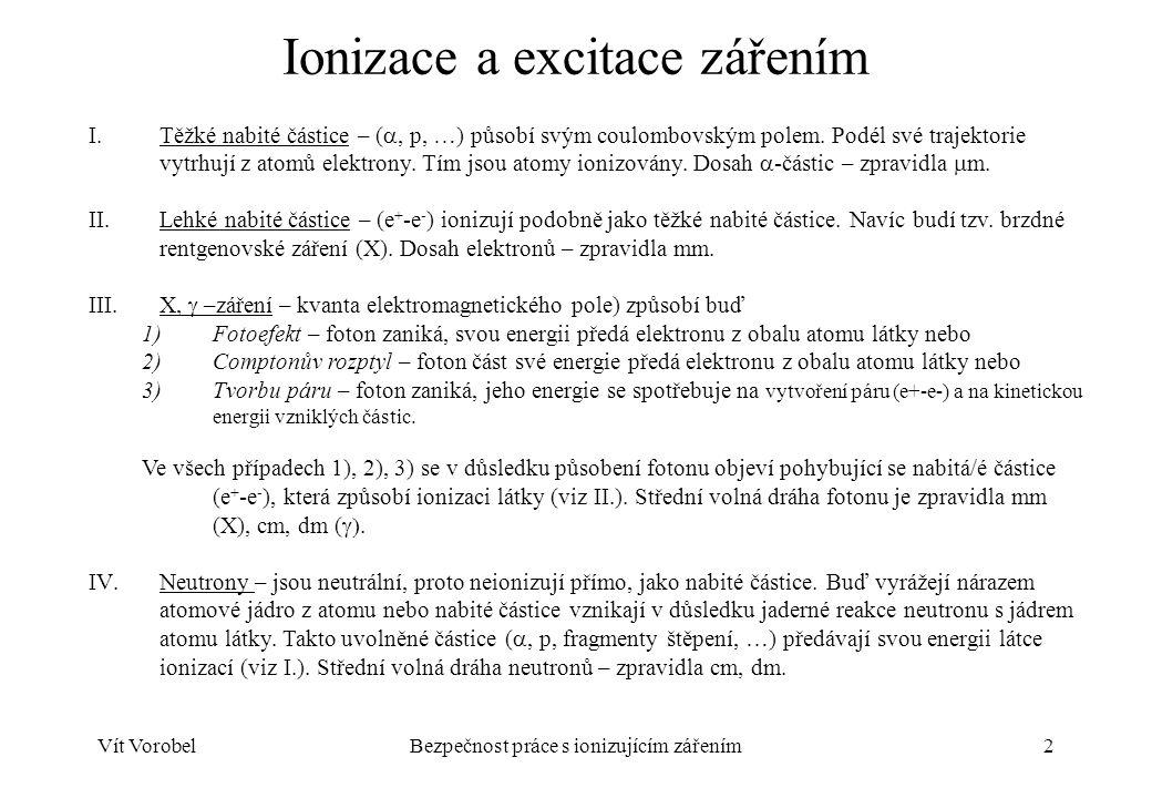 Ionizace a excitace zářením