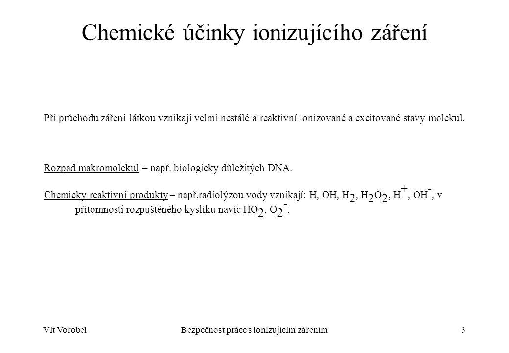 Chemické účinky ionizujícího záření