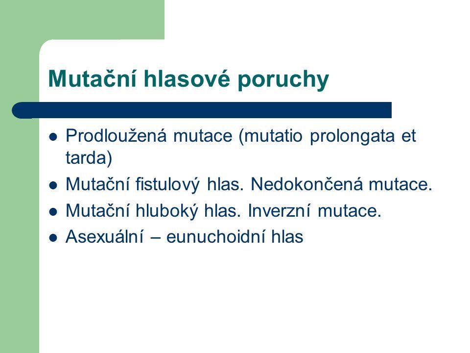 Mutační hlasové poruchy