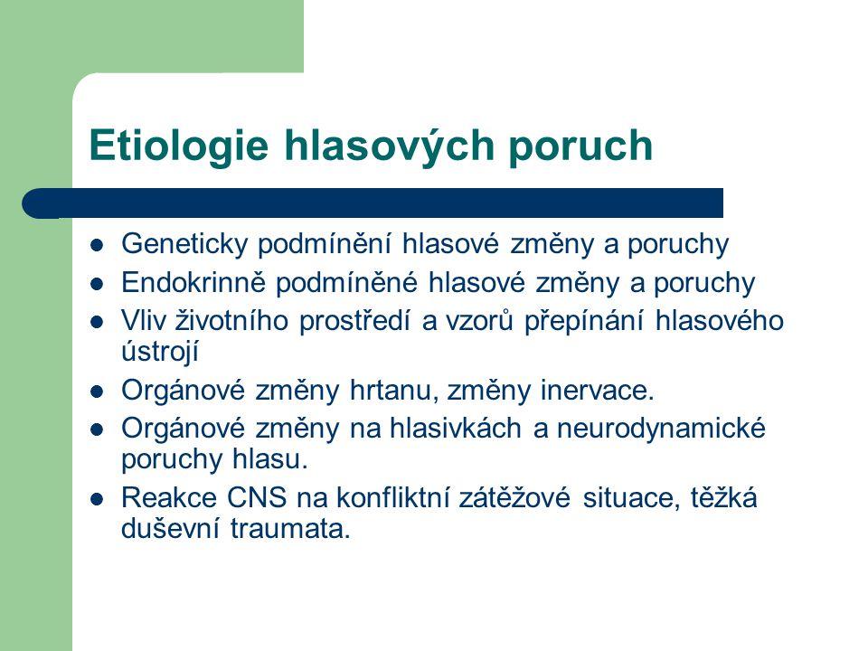 Etiologie hlasových poruch