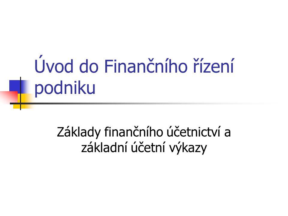 Úvod do Finančního řízení podniku