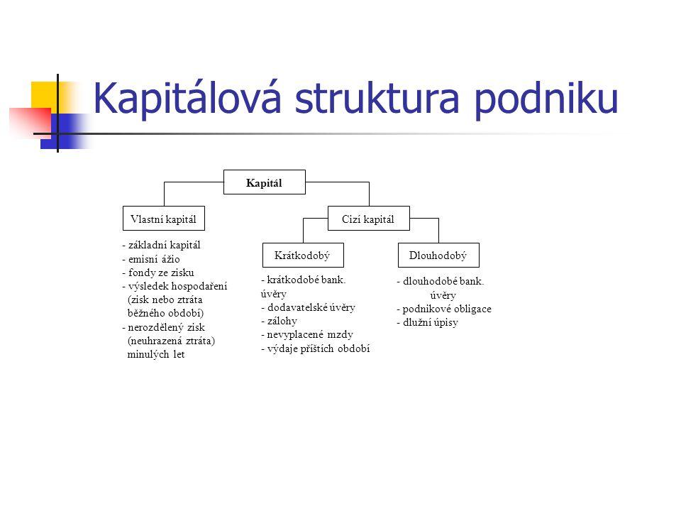 Kapitálová struktura podniku
