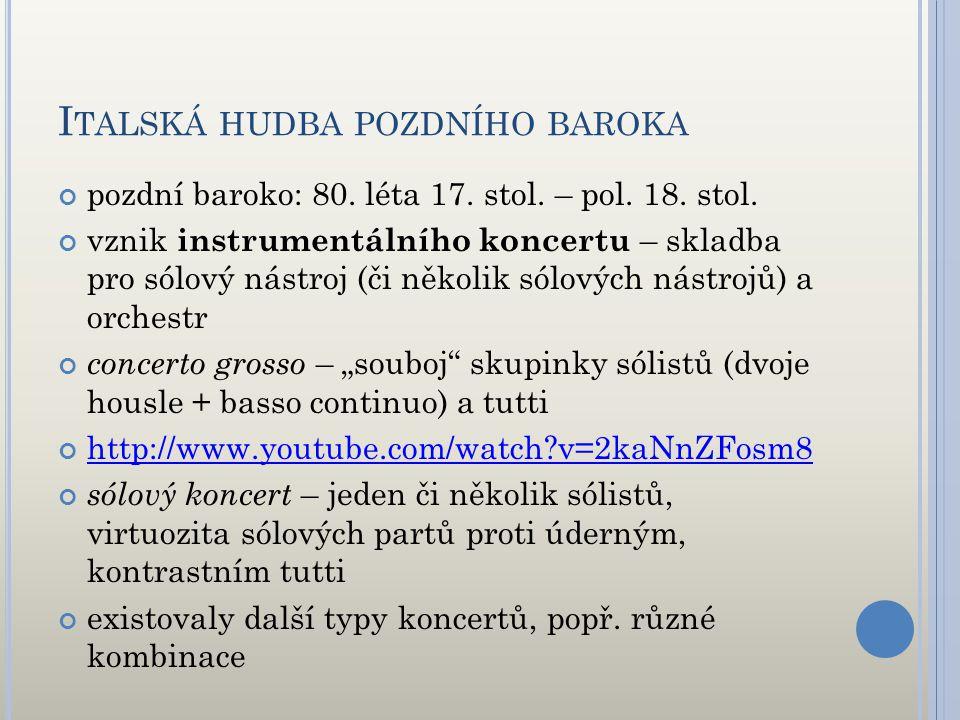 Italská hudba pozdního baroka