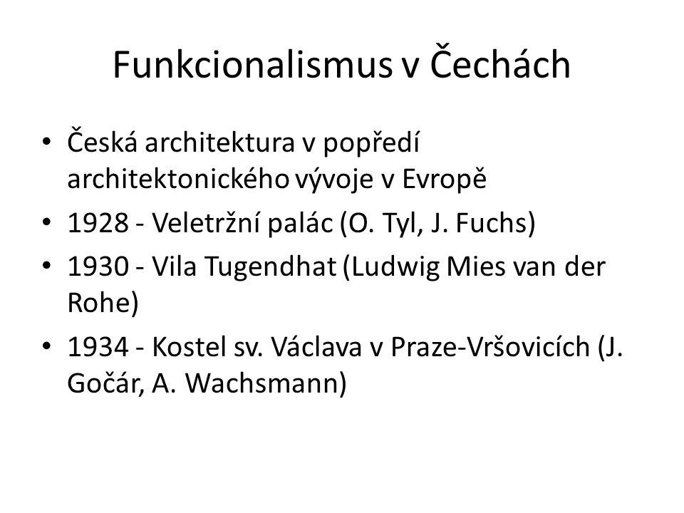 Funkcionalismus v Čechách