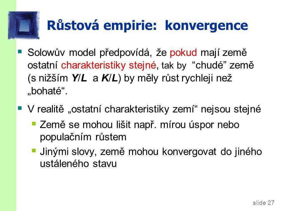 Růstová empirie: konvergence