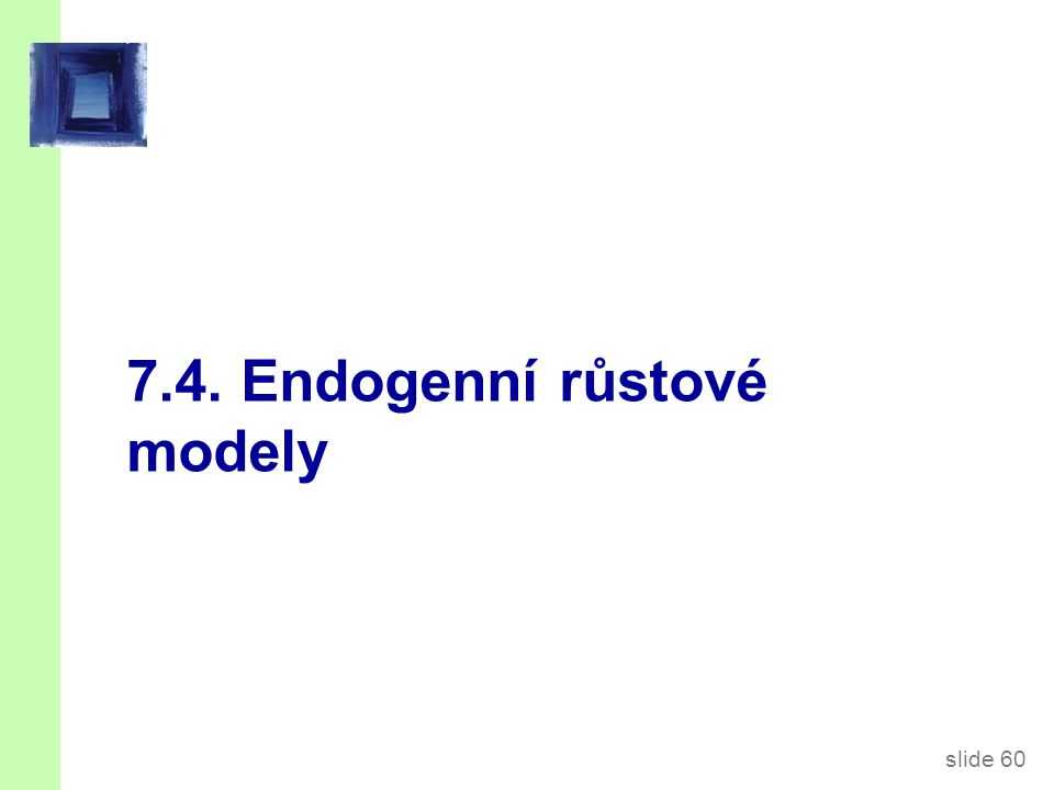 Endogenní růstové teorie