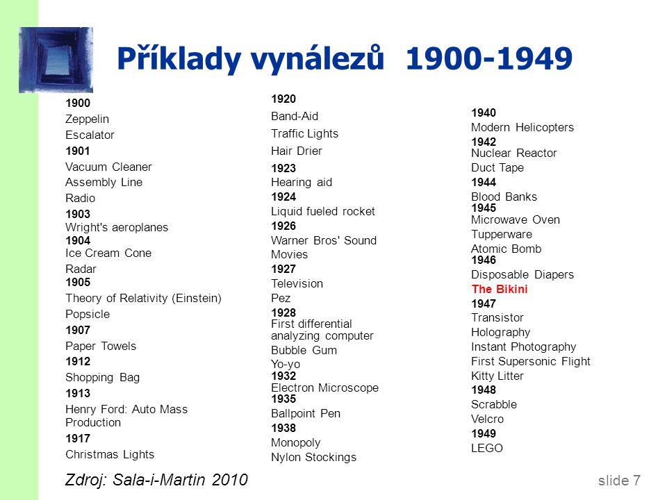 Příklady vynálezů 1950-1970 1957 1950 Soviets send Sputnik to Space