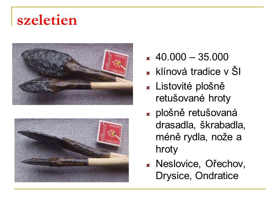 szeletien 40.000 – 35.000 klínová tradice v ŠI