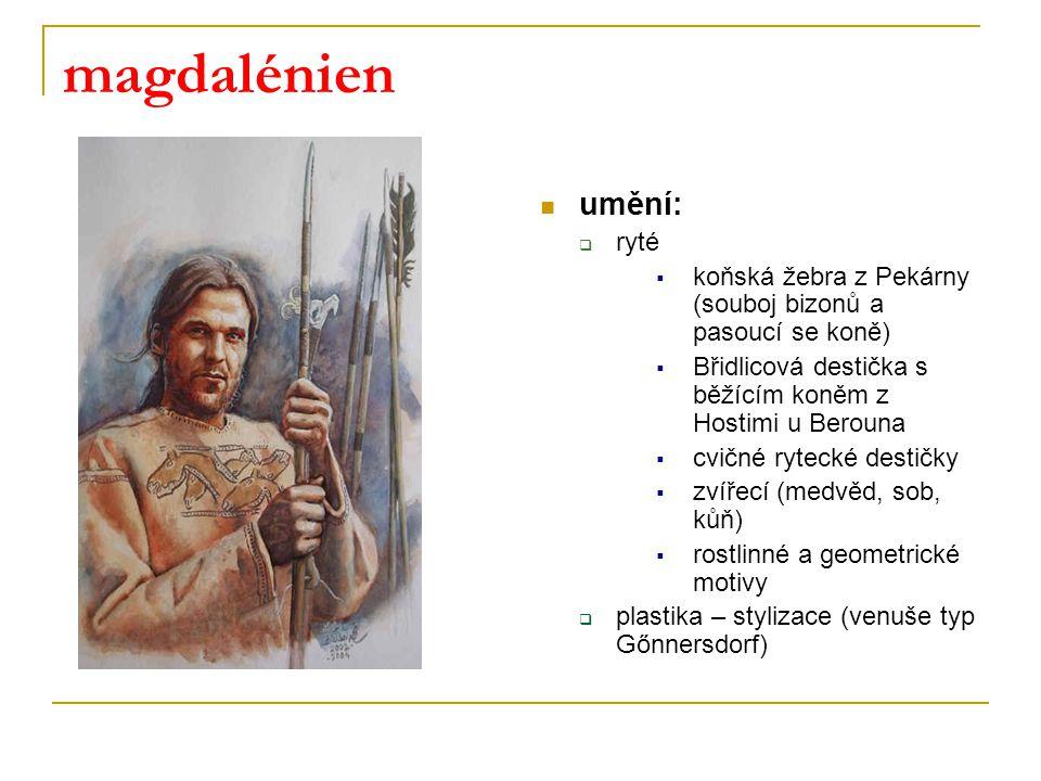 magdalénien umění: ryté