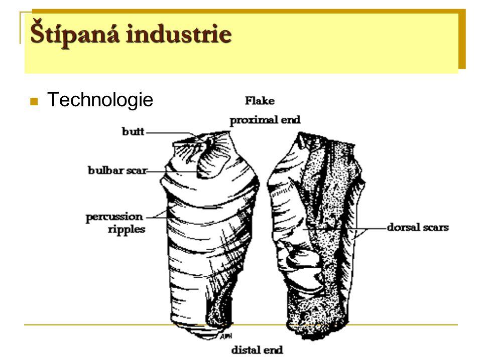 Štípaná industrie Technologie