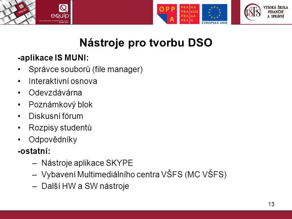 Nástroje pro tvorbu DSO