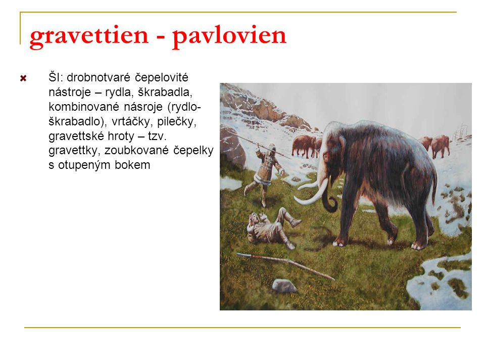 gravettien - pavlovien