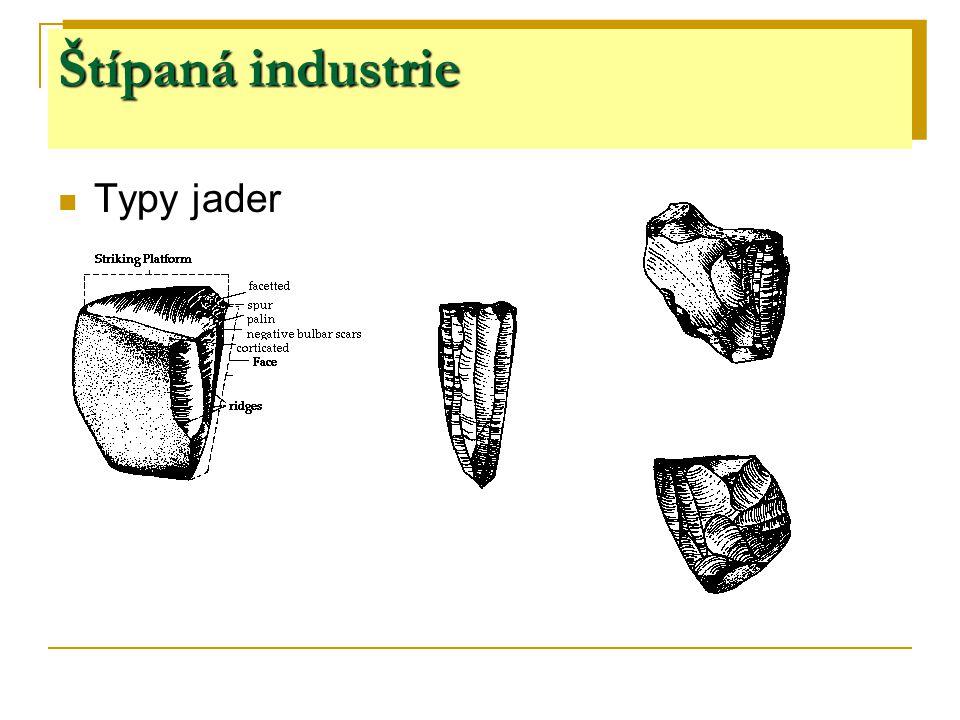 Štípaná industrie Typy jader