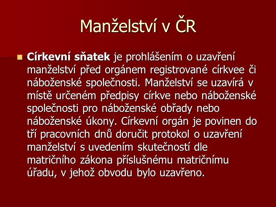 Manželství v ČR