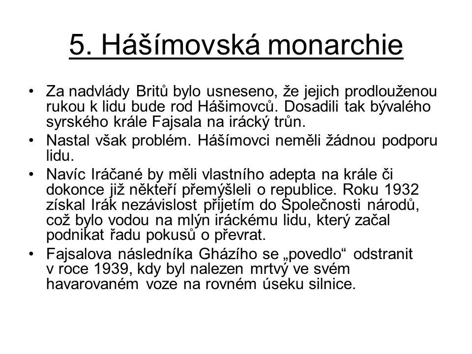 5. Hášímovská monarchie