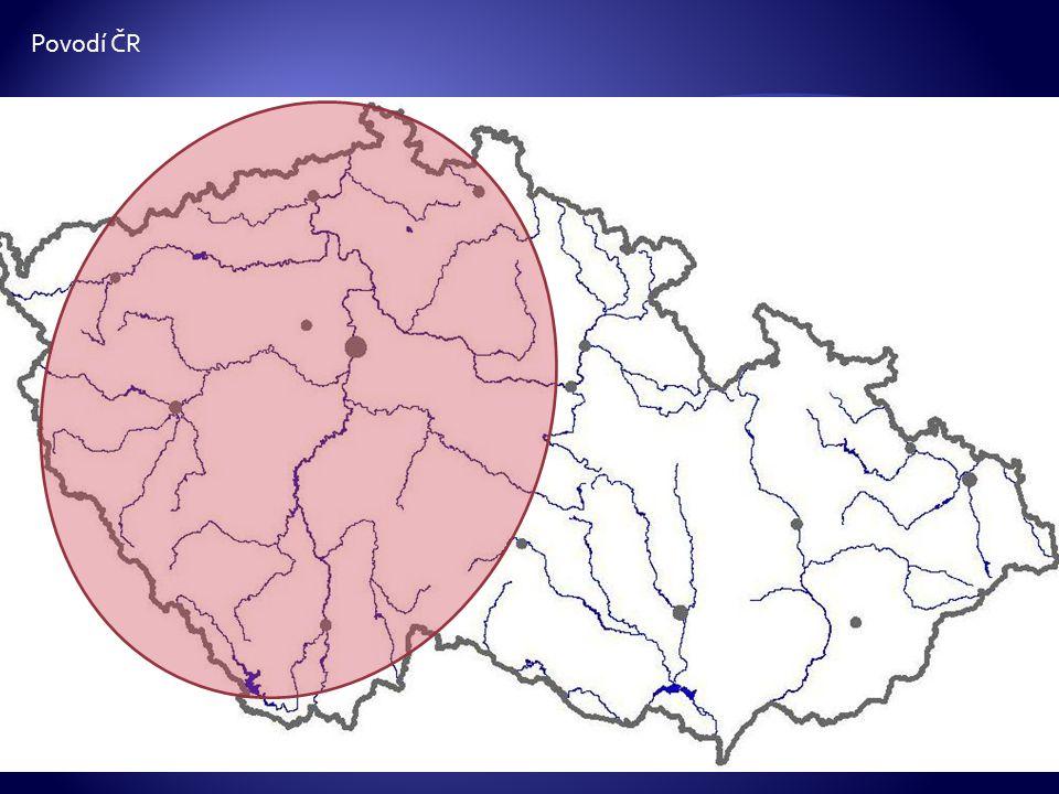 Povodí ČR Posunováním obrazce vyznačujeme jednotlivá povodí.