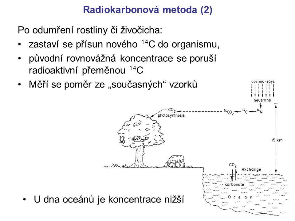 Radiokarbonová metoda (2)