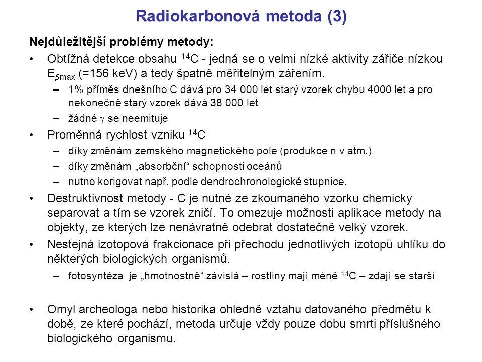 Radiokarbonová metoda (3)