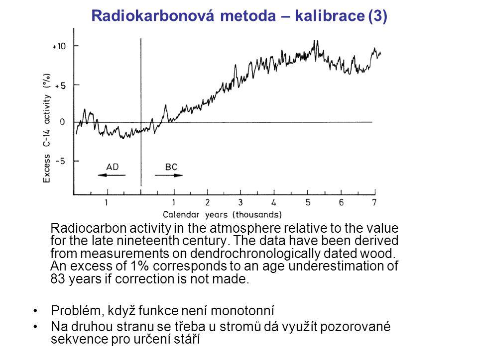 Radiokarbonová metoda – kalibrace (3)