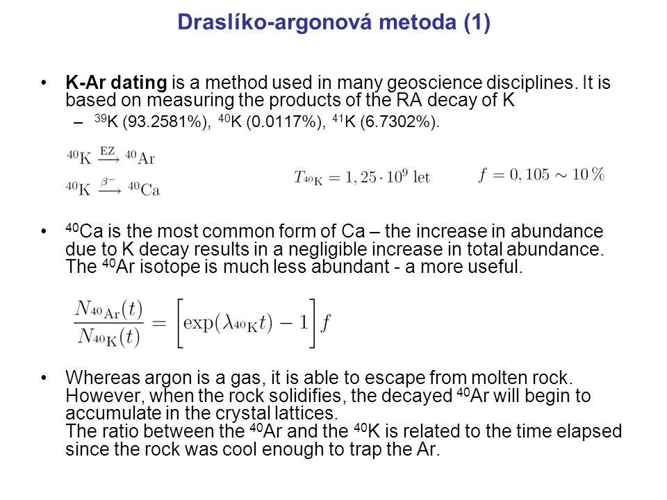 Draslíko-argonová metoda (1)