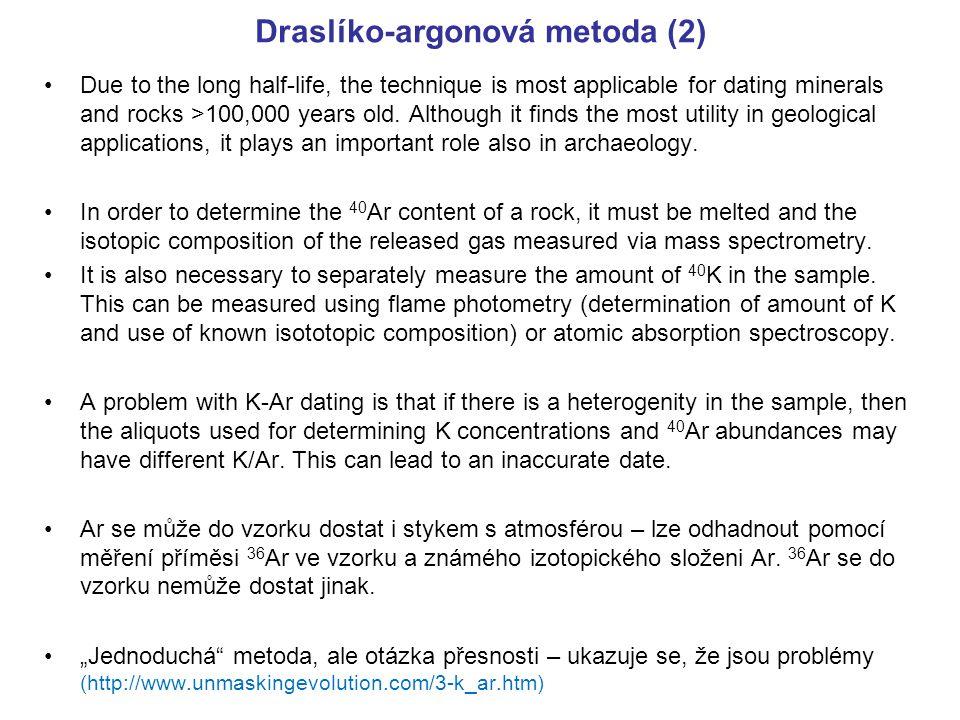 Draslíko-argonová metoda (2)