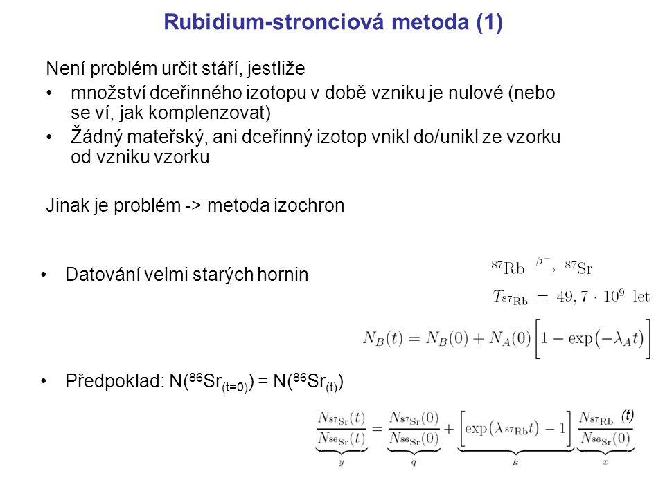 Rubidium-stronciová metoda (1)