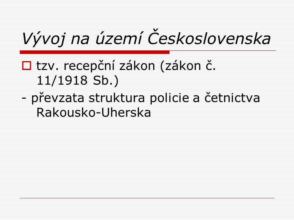 Vývoj na území Československa
