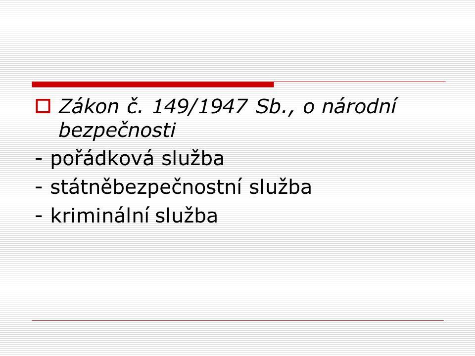 Zákon č. 149/1947 Sb., o národní bezpečnosti