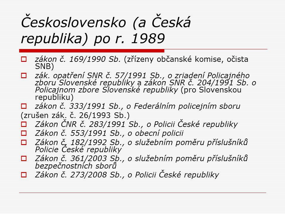 Československo (a Česká republika) po r. 1989