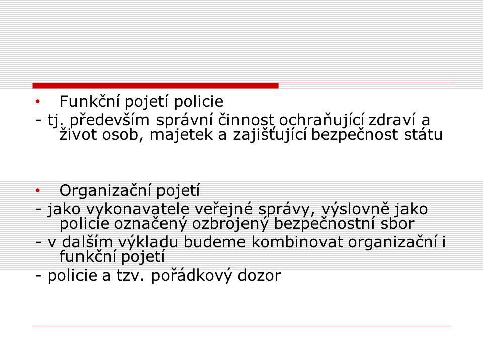 Funkční pojetí policie