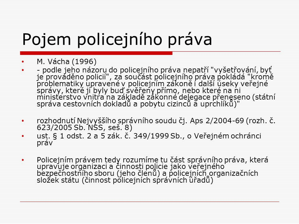 Pojem policejního práva