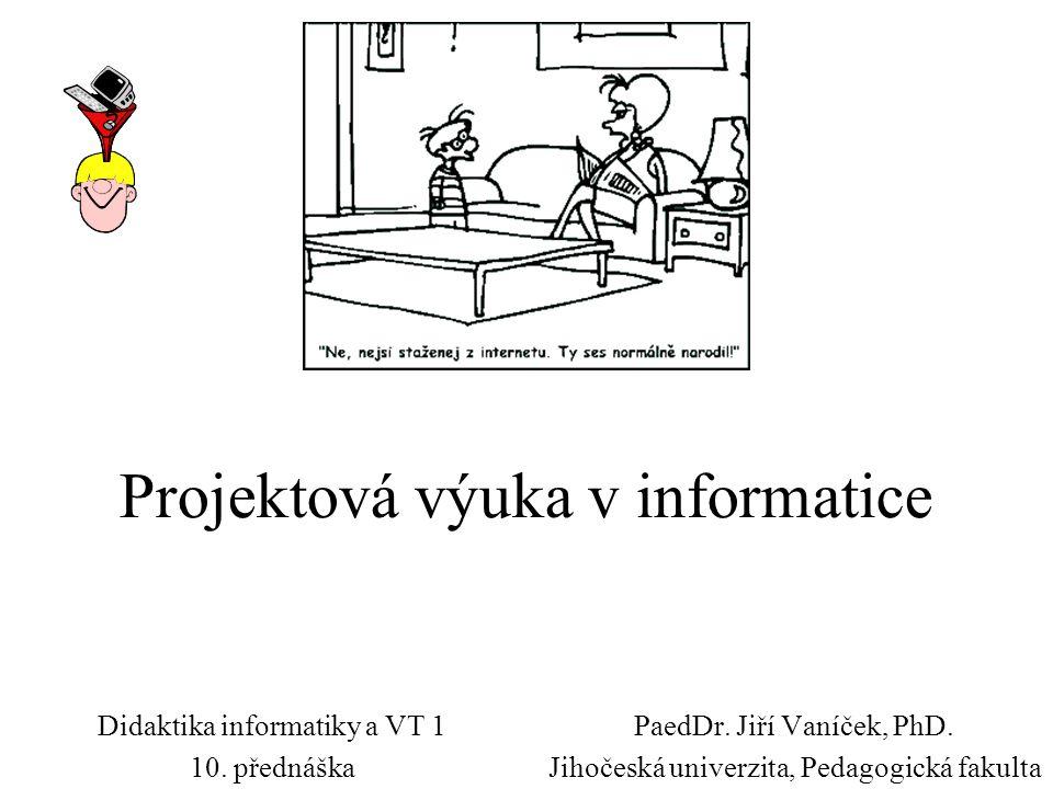 Projektová výuka v informatice