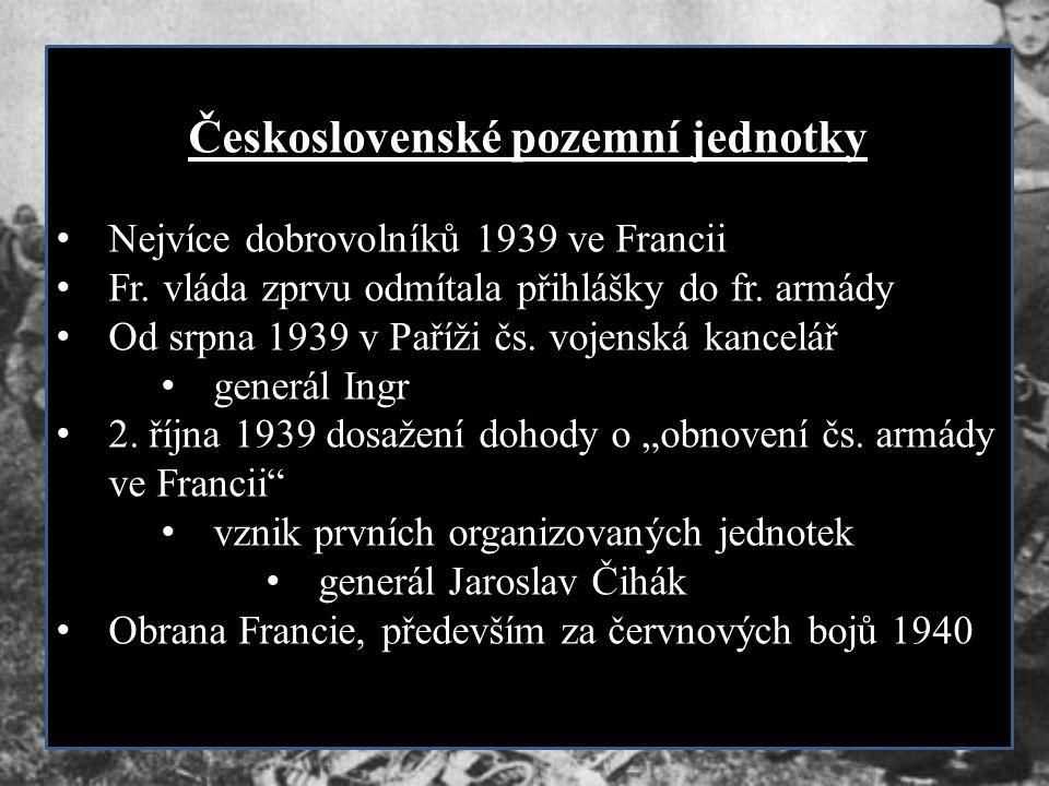 Československé pozemní jednotky