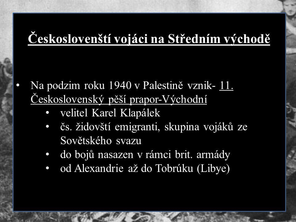 Českoslovenští vojáci na Středním východě