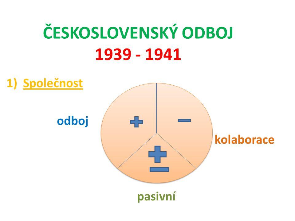 ČESKOSLOVENSKÝ ODBOJ 1939 - 1941
