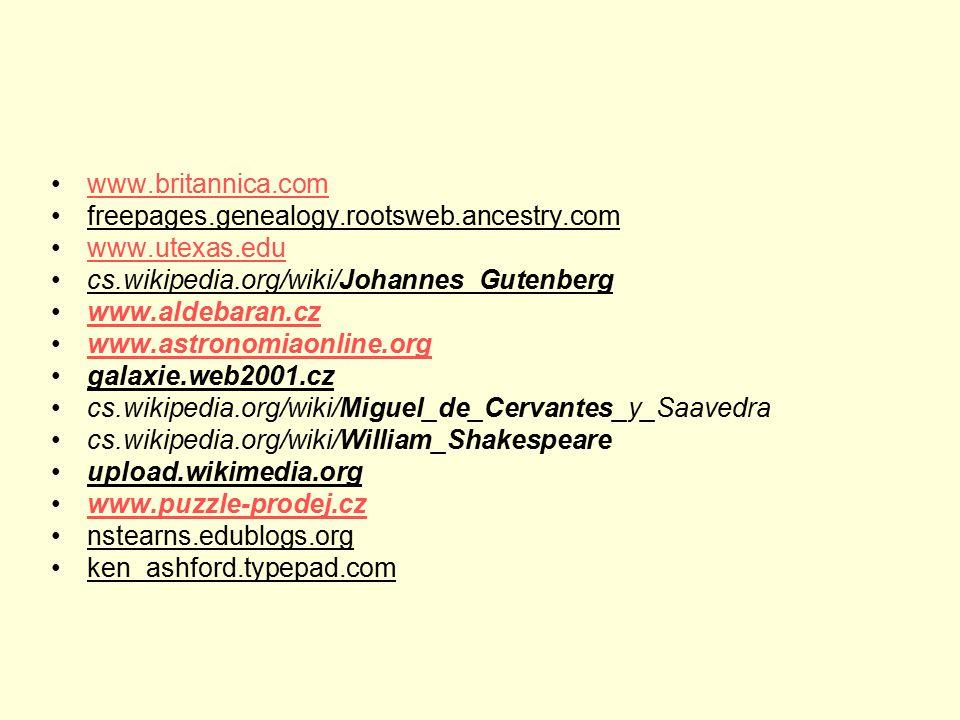 www.britannica.com freepages.genealogy.rootsweb.ancestry.com. www.utexas.edu. cs.wikipedia.org/wiki/Johannes_Gutenberg.