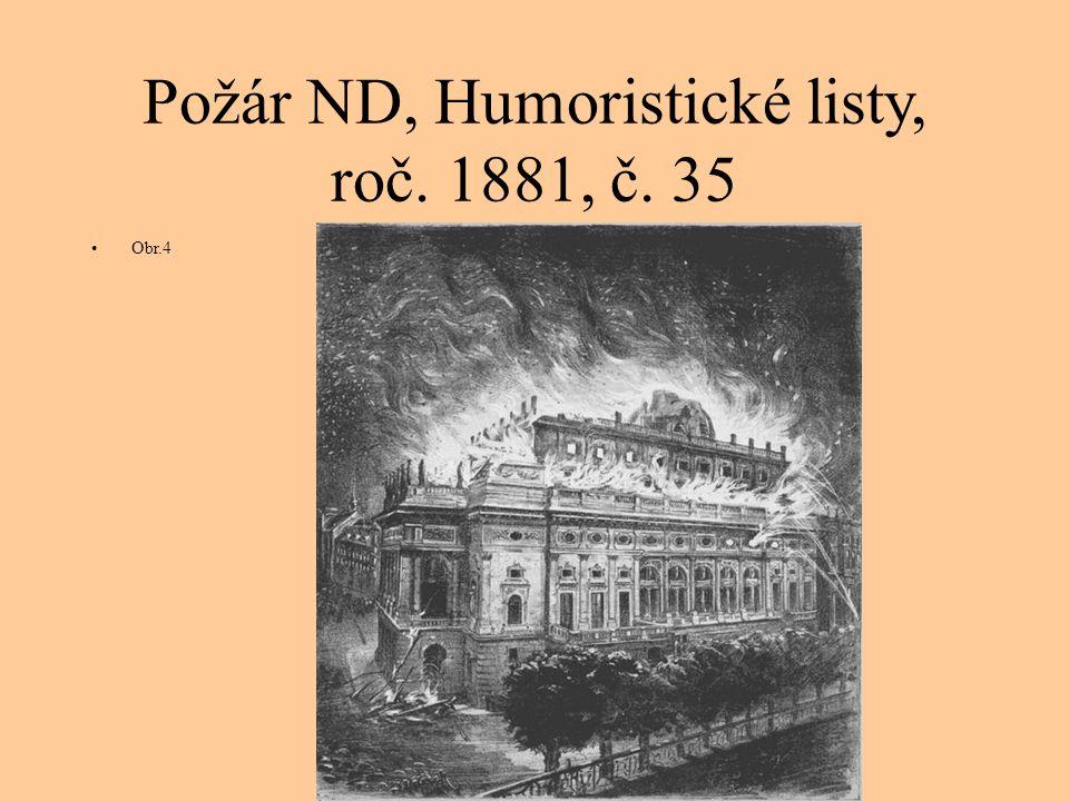Požár ND, Humoristické listy, roč. 1881, č. 35